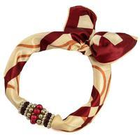Jewelry scarf Stewardess - brown and beige