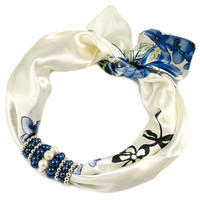 Jewelry scarf Stewardess - blue and white