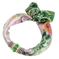 Jewelry scarf Stewardess - green