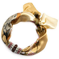 Jewelry scarf Stewardess - golden brown