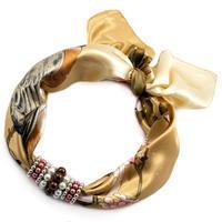 Jewelry scarf Stewardess - golden brown