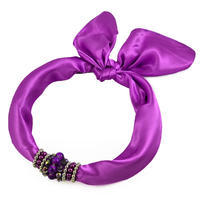 Jewelry scarf Stewardess - violet