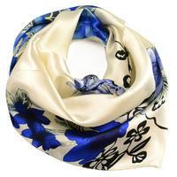 Small neckerchief - blue and white