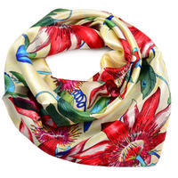 Small neckerchief - beige and red