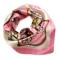Small neckerchief 63sk009-01.23 - white and pink