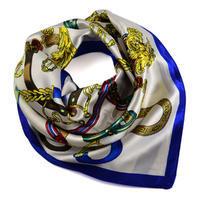 Small neckerchief 63sk009-01.30 - white and blue
