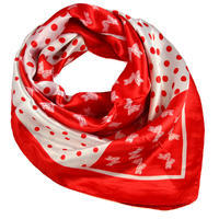 Square scarf - red and white