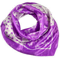 Square scarf - violet and white