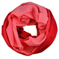 Winter infinity scarf - red and pink