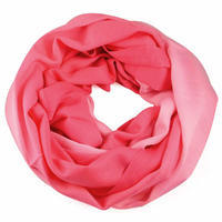 Winter infinity scarf - pink