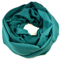 Winter infinity scarf - bluegreen