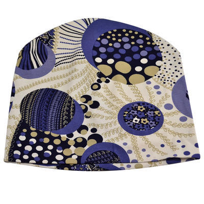 Beanie hat - blue and white