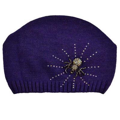 Knitted hat - violet