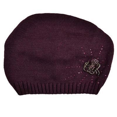 Knitted hat - violet