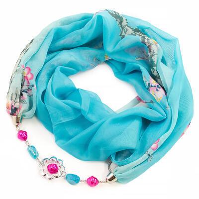 Jewelry scarf Extravagant - turquoise - 1