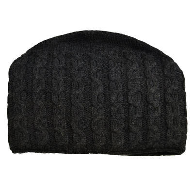 Knitted hat - dark grey