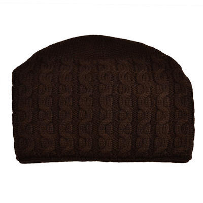 Knitted hat - brown