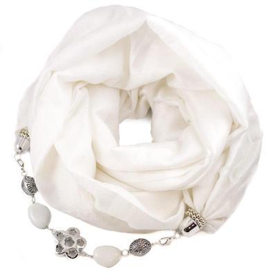 Warm bijoux scarf - yellow