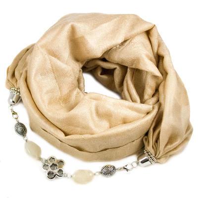 Warm jewelry scarf - beige