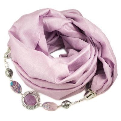 Warm jewelry scarf - light violet