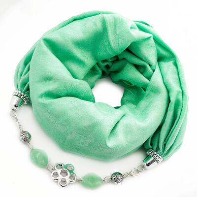Warm jewelry scarf - green