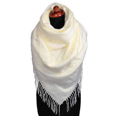 Blanket square scarf - white - 1