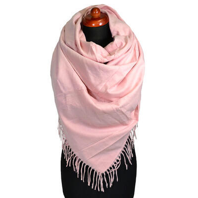 Blanket square scarf - pink - 1
