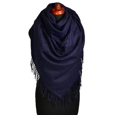 Blanket square scarf - dark blue - 1