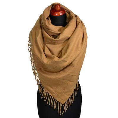 Blanket square scarf - light brown - 1