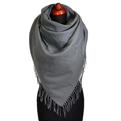 Blanket square scarf - grey - 1