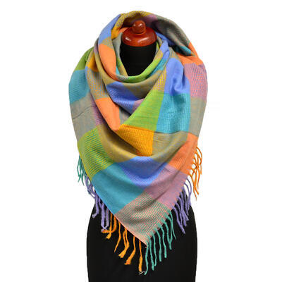 Blanket square scarf - multicolor - 1