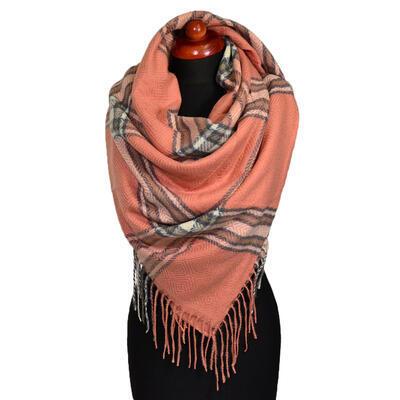 Blanket square scarf - brick orange - 1