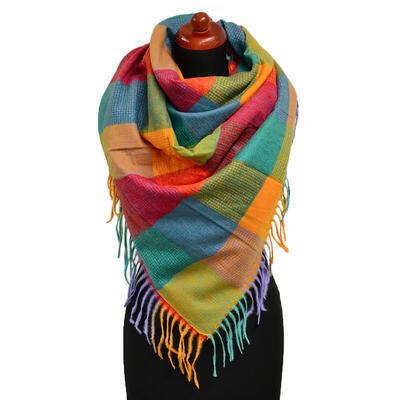 Blanket square scarf - multicolor - 1