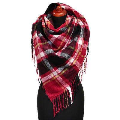 Blanket square scarf - red - 1