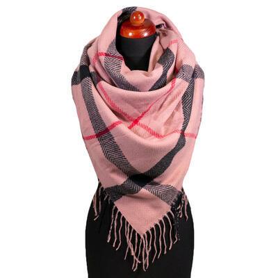 Blanket square scarf - pink - 1
