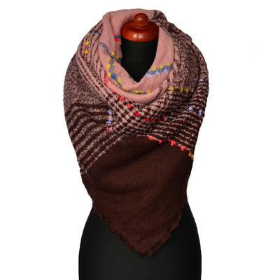 Blanket square scarf - blue - 1