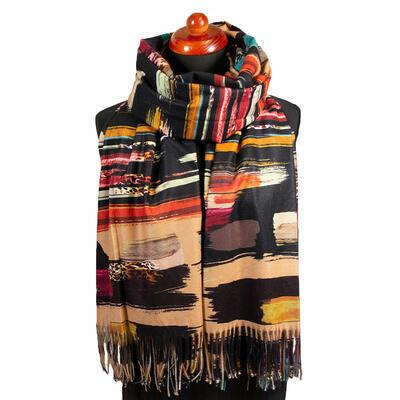 Blanket scarf - beige - 1