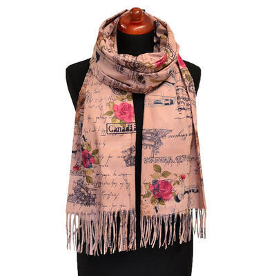 Blanket scarf - pink - 1