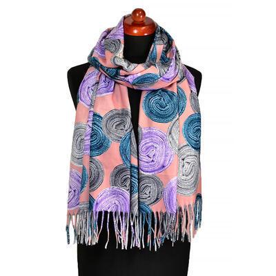 Blanket scarf - dark pink - 1