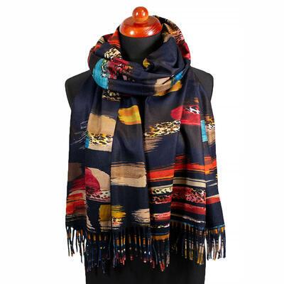 Blanket scarf - dark blue - 1