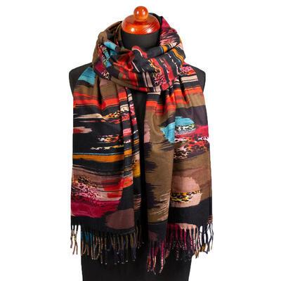 Blanket scarf - brown - 1