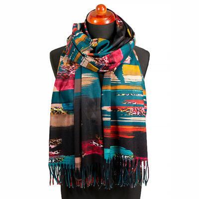 Blanket scarf - dark green - 1