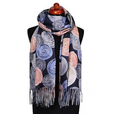 Blanket scarf - black - 1