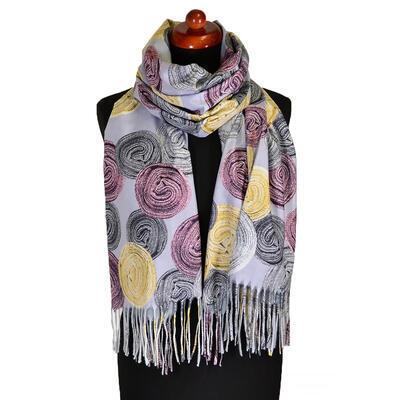 Blanket scarf - grey - 1
