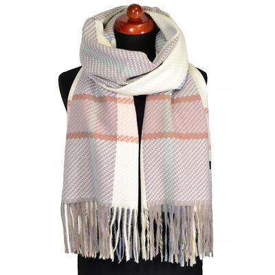 Blanket scarf - brown and beige - 1