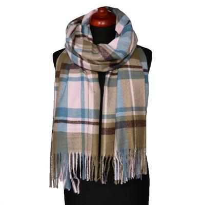 Blanket scarf - brown and black - 1