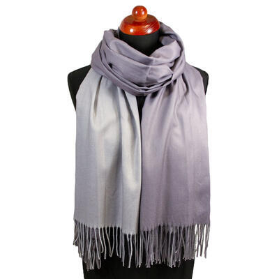 Blanket double-sided scarf - grey - 1