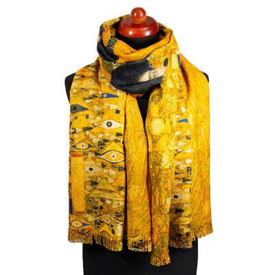Blanket scarf bilateral - mustard yellow - 1