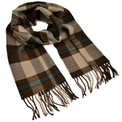 Men's scarf - brown - 1