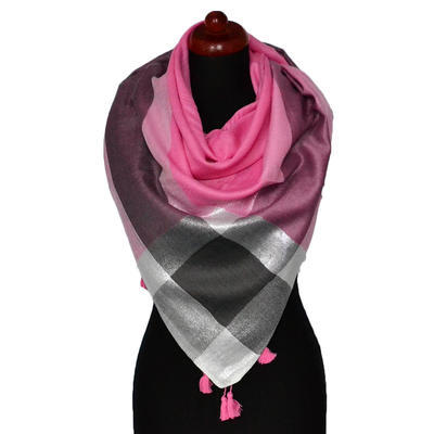 Big square scarf - pink - 1